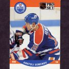 1990-91 Pro Set Hockey #608 Anatoli Semenov RC - Edmonton Oilers