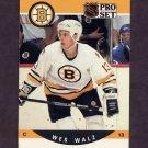 1990-91 Pro Set Hockey #589 Wes Walz RC - Boston Bruins
