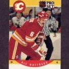 1990-91 Pro Set Hockey #426 Ric Nattress - Calgary Flames