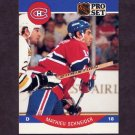 1990-91 Pro Set Hockey #158 Mathieu Schneider RC - Montreal Canadiens