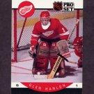 1990-91 Pro Set Hockey #072 Glen Hanlon - Detroit Red Wings