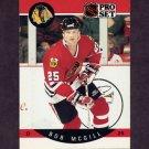 1990-91 Pro Set Hockey #055 Bob McGill - Chicago Blackhawks