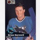 1991-92 Pro Set French Hockey #327 Brian Hayward - San Jose Sharks