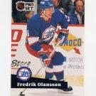 1991-92 Pro Set French Hockey #264 Fredrik Olausson - Winnipeg Jets