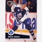 1991-92 Pro Set French Hockey #230 Dave Ellett - Toronto Maple Leafs