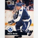 1991-92 Pro Set French Hockey #229 Dave Reid - Toronto Maple Leafs