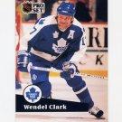 1991-92 Pro Set French Hockey #225 Wendel Clark - Toronto Maple Leafs