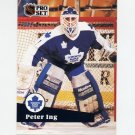 1991-92 Pro Set French Hockey #222 Peter Ing - Toronto Maple Leafs