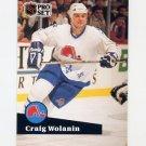 1991-92 Pro Set French Hockey #203 Craig Wolanin - Quebec Nordiques