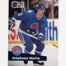 1991-92 Pro Set French Hockey #201 Stephane Morin - Quebec Nordiques
