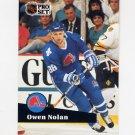 1991-92 Pro Set French Hockey #196 Owen Nolan - Quebec Nordiques