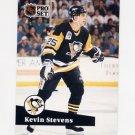 1991-92 Pro Set French Hockey #185 Kevin Stevens - Pittsburgh Penguins