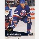 1991-92 Pro Set French Hockey #155 Craig Ludwig - New York Islanders