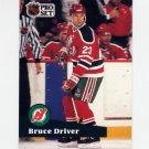 1991-92 Pro Set French Hockey #140 Bruce Driver - New Jersey Devils