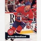 1991-92 Pro Set French Hockey #127 Brian Skrudland - Montreal Canadiens