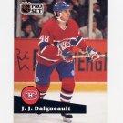 1991-92 Pro Set French Hockey #124 J.J. Daigneault - Montreal Canadiens