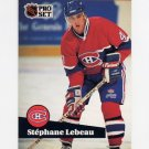 1991-92 Pro Set French Hockey #120 Stephane LeBeau - Montreal Canadiens