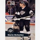 1991-92 Pro Set French Hockey #100 Marty McSorley - Los Angeles Kings