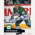 1991-92 Pro Set French Hockey #086 Pat Verbeek - Hartford Whalers