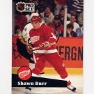 1991-92 Pro Set French Hockey #058 Shawn Burr - Detroit Red Wings