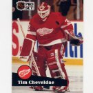 1991-92 Pro Set French Hockey #057 Tim Cheveldae - Detroit Red Wings