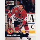 1991-92 Pro Set French Hockey #052 Doug Wilson - Chicago Blackhawks