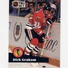 1991-92 Pro Set French Hockey #051 Dirk Graham - Chicago Blackhawks