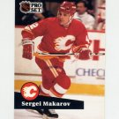 1991-92 Pro Set French Hockey #039 Sergei Makarov - Calgary Flames
