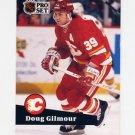 1991-92 Pro Set French Hockey #034 Doug Gilmour - Calgary Flames