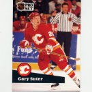 1991-92 Pro Set French Hockey #032 Gary Suter - Calgary Flames