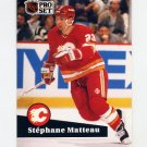 1991-92 Pro Set French Hockey #027 Stephane Matteau - Calgary Flames