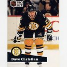 1991-92 Pro Set French Hockey #011 Dave Christian - Boston Bruins
