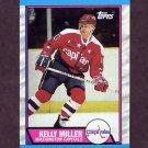 1989-90 Topps Hockey #131 Kelly Miller - Washington Capitals