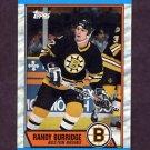 1989-90 Topps Hockey #121 Randy Burridge - Boston Bruins