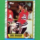 1989-90 Topps Hockey #052 Dirk Graham - Chicago Blackhawks