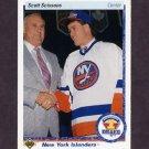 1990-91 Upper Deck Hockey #357 Scott Scissons RC - New York Islanders