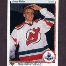 1990-91 Upper Deck Hockey #335 Jason Miller RC - New Jersey Devils