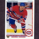 1990-91 Upper Deck Hockey #332 Donald Dufresne RC - Montreal Canadiens