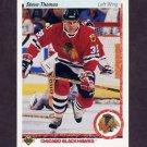 1990-91 Upper Deck Hockey #221 Steve Thomas - Chicago Blackhawks
