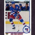 1990-91 Upper Deck Hockey #185 James Patrick - New York Rangers