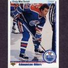 1990-91 Upper Deck Hockey #169 Craig MacTavish - Edmonton Oilers