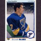 1990-91 Upper Deck Hockey #038 Gino Cavallini - St. Louis Blues