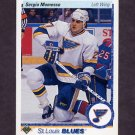 1990-91 Upper Deck Hockey #019 Sergio Momesso RC - St. Louis Blues