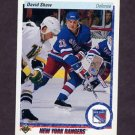 1990-91 Upper Deck Hockey #015 David Shaw - New York Rangers