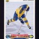 1992-93 Upper Deck Hockey #227 Niklas Sundblad RC - Calgary Flames