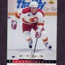 1993-94 Upper Deck Hockey #229 Theo Fleury 100 - Calgary Flames