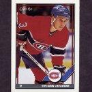 1991-92 O-Pee-Chee Hockey #489 Sylvain Lefebvre - Montreal Canadiens