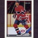 1991-92 O-Pee-Chee Hockey #392 Mathieu Schneider - Montreal Canadiens