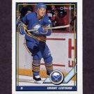 1991-92 O-Pee-Chee Hockey #386 Grant Ledyard - Buffalo Sabres