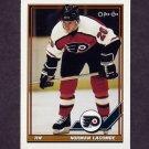 1991-92 O-Pee-Chee Hockey #357 Normand Lacombe - Philadelphia Flyers